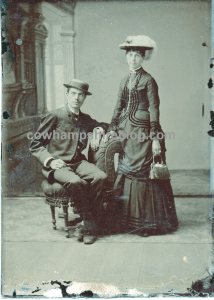 Chester and Emma Fairbanks of Nashua, New Hampshire. Photograph probably taken in the 1880.