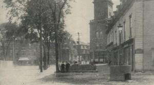 Biddeford, Maine's city square 1907
