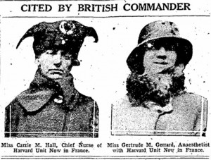 December 29, 1917 newspaper clipping, her work cited by British.