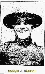 Dennis Joseph Carey, in WW1 uniform