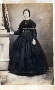 Zora Drown, later Zora Dodge of Sheffield VT and Piermont NH. The photograph is dated to the years of the Civil War.