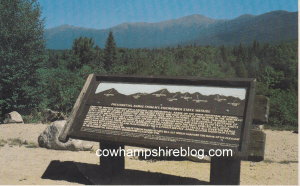 Mt. Eisenhower and Presidential Range sign, White Mountains NH