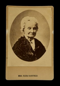 Cabinet Photograph: Mrs. Eliza Garfield (1801-1888), Attributed to James Fitzallen Ryder, American photographer, Special Collections, Fine Art Library