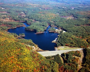 Everett Lake and Dam, Weare NH. From the U.S. Army Corps of Engineers