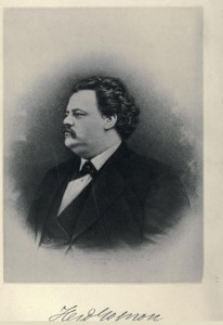 "Likeness of Ferdinand Gagnon from ""Biography of Ferdinand Gagnon,"" by Benjamin Sulte; 1886"