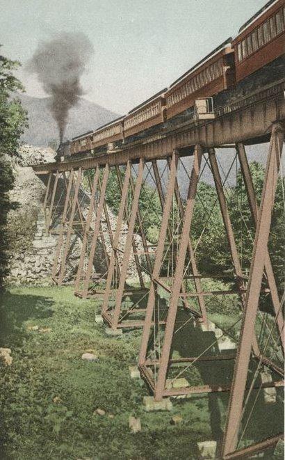 Frankenstein Trestle, Crawford Notch, New Hampshire. circa 1912 old postcard