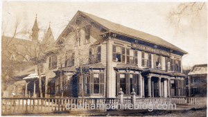 From 1911-1916 Hesser Business School was located at 146 Concord St. This building was demolished to make way for the NH Institute of Arts and Sciences.