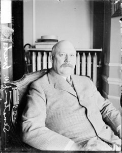 Portrait of John W. Weeks, then Senator of Massachusetts 31 May 1916 sitting in room, Chicago IL at Republican National Convention. From Chicago History Museum, via American Memory.
