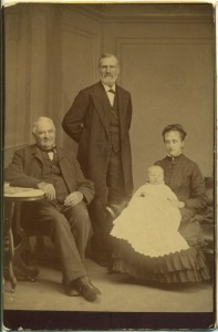 Josiah, seated. Edward, standing. Addie Kilburn Robinson with son Edward K. Robinson. This photograph, and other Kilburn & Robinson family photographs in this tree, have now been given to the Library of Congress Prints & Photographs Division