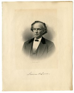 Engraving-portrait of Seneca A. Ladd, before 1892; New Hampshire Historical Society Collection.