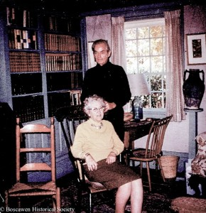At home in Boscawen, Omer Lassonde and his wife, L.
