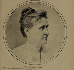 """Leonora Piper from Cover of: """"Spiritism, hypnotism and telepathy as involved in the case of Mrs. Leonora E. Piper and the Society of psychical research,"""" by Clark Bell"""