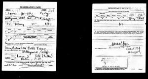 Lewis Cody ww1 draft registration