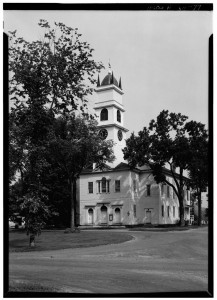 PHOTOGRAPH Lyme Congregational Church, The Green, Lyme, Grafton Co. NH; This is a large, frame meeting house built in 1812, typical of the place and period; Library of Congress Prints and Photographs Division, Washingotn D.C., Audrey P. Janion, photographer.