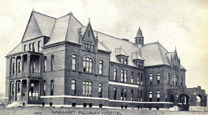 Old postcard of Margaret Pillsbury Hospital, Concord NH