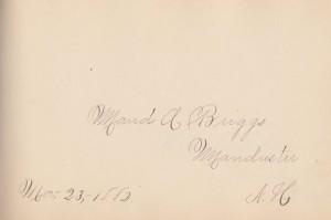 Maud a Briggs autograph