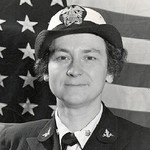 Dr. Mildred Helen (McAfee) Horton (1900-1994). She was the first Director of the WAVES (Women's Reserve of the Navy), and was awarded the Distinguished Service Medal in 1945