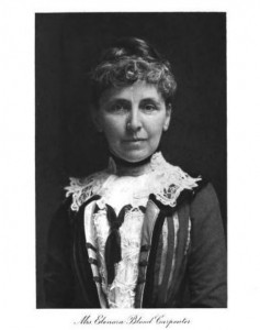 Mrs. Eleanora Blood Carpenter, daughter of Aretas Blood, and wife of Frank P. Carpenter. The Manchester City (NH) Library was built in her memory.