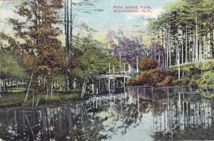 Pine Island Park pond watermark