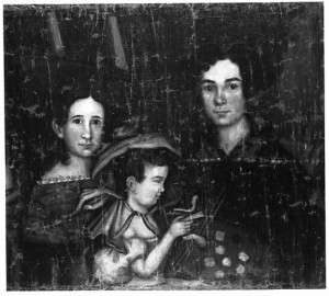 Self Portrait of Ruth Whittier Shute and her daughters, Adelaide and Adeline, courtesy of Stephen Sakkelarios. (ssake@goldthread.com)