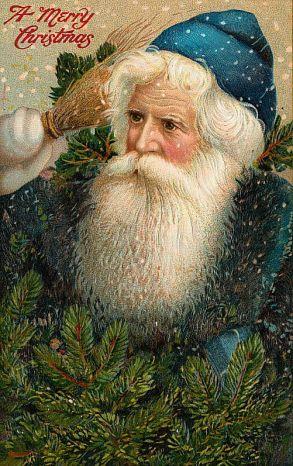 old santa postcard