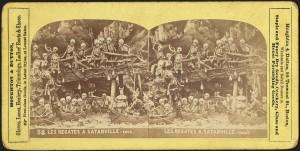 Les Regates A Satanville, Stereograph, 1850-1920, Boston Public Library, Print Department