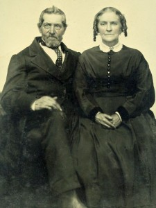 Tin-type photograph of WIlliam Angell & Marietta (Cox) Scales of Woodstock Vermont and Lempster, New Hampshire.