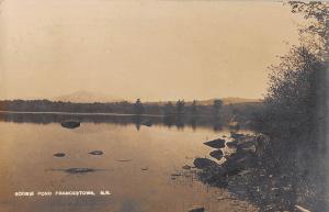 Old postcard of Scobie Pond, aka Haunted Lake in Francestown NH