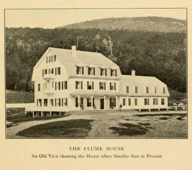 "The Flume House, from page 171 of ""Views of the White Mountains with  Descriptions,"" by M.F. Sweetser"