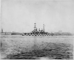 Photograph of the U.S.S. Nebraska during WWI.