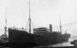 Photograph of USS Ticonderoga (ID-1958) Taken at Boston MA on 27 November 1917.