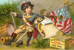 Victorian 4th of july card
