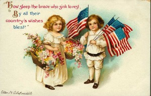Victorian Decoration Day postcard