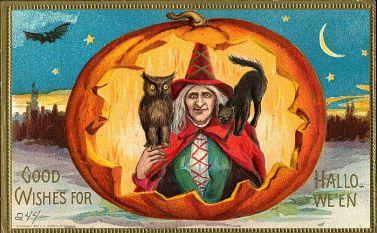 victorian halloween witch