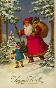 Santa in woods