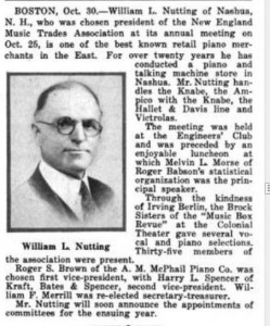 William L Nutting article and photo