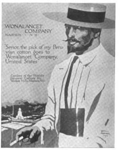 Wonalancet advertising featuring Peruvian man