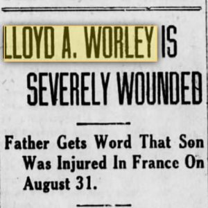 Worley Lloyd newspaper clipping