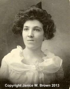 Addie Ryan, photograph taken around 1897.