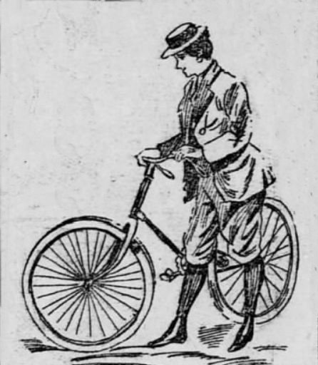 First NH Lady Century Rider of 1893, Bicyclist, Linotypist