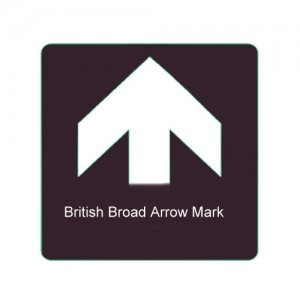 Example of the broad arrow mark that would be slashed into the trees intended for the King's use.