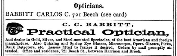 cc babbitt optician