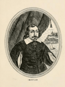 """Likeness of Samuel de Champlain from """"The Isles of Shoals. An historical sketch,"""" (1901), by John Scribner Jenness, Boston, NY, Houghton, Mifflin and Company; page 16"""