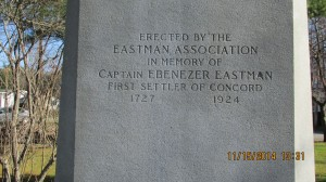 Close up of Eastman Association monument, erected in 1924. Photograph property of Tom Campbell Wilson, used with permission.