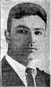 Photograph of Joseph A. Coletti taken in 1924 upon winning the Sachs Art Award.