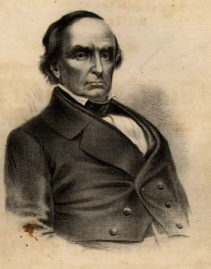 Likeness of Daniel Webster from front cover from Pamphlet re: Funeral March Performed at the obsequies of the Hon. Daniel Webster. Boston MA: 1871; from American Memory / Rare Book, Manuscript, and Special Collections Library, Duke University at http://tinyurl.com/cypzrfl