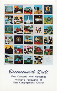 East Concord Bicentennial Quilt, probably circa 1975.