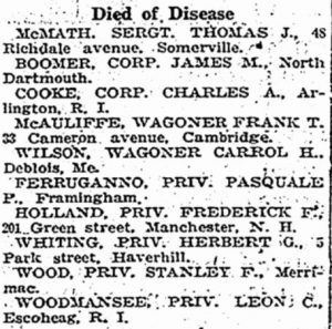 New Hampshire WWI Military: Private Frederick F  Holland of