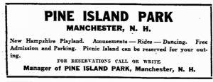 July 11, 1936 Pine Island Ad in Boston Herald (Boston MA) page 16