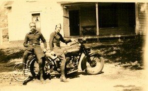 Harry Babkirk and Webby Webster in Merrimack NH 1936